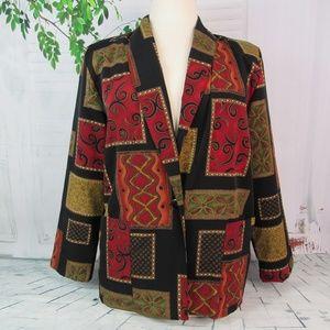 Vintage Womens Blazer One Button Soft Silky